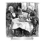 Samuel Clemens Cartoon Shower Curtain