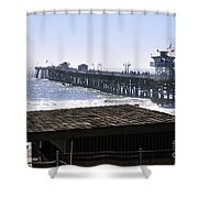 San Clemente Pier California Shower Curtain by Clayton Bruster