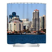 San Diego Buildings Photo Shower Curtain by Paul Velgos