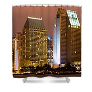 San Diego City At Night Shower Curtain
