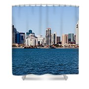 San Diego Skyline Buildings Shower Curtain