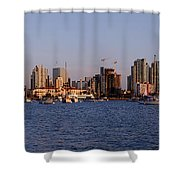 San Diego Skyline Pano Shower Curtain