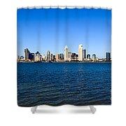 San Diego Skyline Shower Curtain