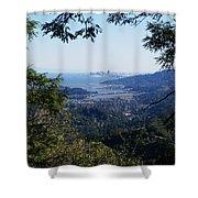 San Francisco As Seen Through The Redwoods On Mt Tamalpais Shower Curtain