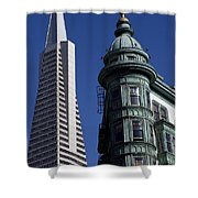 San Francisco Buildings Shower Curtain