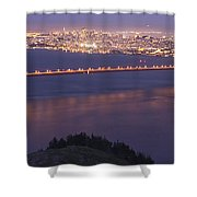 San Francisco Dusk Shower Curtain