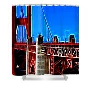 San Francisco Golden Gate Bridge Electrified Shower Curtain