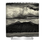 San Francisco Peaks In Black And White Shower Curtain