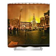 San Francisco Union Square Xmas Shower Curtain
