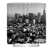San Francisco Shower Curtain by Valeria Donaldson