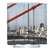 San Francisco Through The Cables Shower Curtain