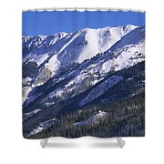 San Juan Mountains Covered In Snow Shower Curtain