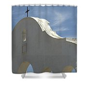 San Xavier Del Bac Archway Shower Curtain
