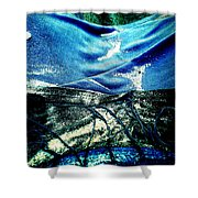 Sand And Shells On Dress Shower Curtain
