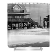 Sand And Stilts Shower Curtain