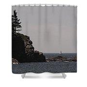 Sand Beach Cove Shower Curtain