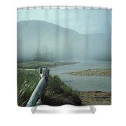 Sand Beach Fog Shower Curtain