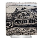 Sand Dragon Sculputure Shower Curtain