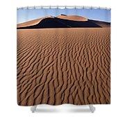 Sand Dunes Against Clear Sky Shower Curtain