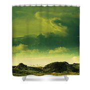 Sand Dunes And Clouds Shower Curtain by Marilyn Hunt