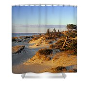 Sand Dunes At Sunset, Lake Huron Shower Curtain