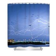 Sand Key Bridge Shower Curtain