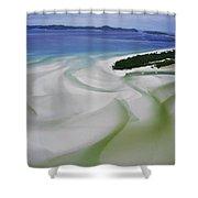 Sandbars Create An Interesting Pattern Shower Curtain