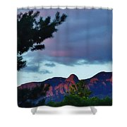 Sandia Mountains At Sunset Shower Curtain