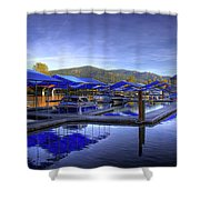 Sandpoint Marina And Power House 2 Shower Curtain
