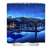 Sandpoint Marina And Power House 3 Shower Curtain