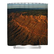 Sandstone-capped Escarpment Shower Curtain