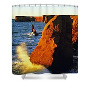 Sandstone Cliffs And Ocean Surf, La Shower Curtain