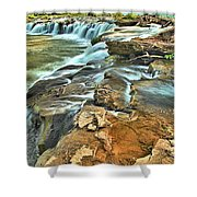 Sandstone Falls In The New River Shower Curtain