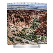 Sandstone Fins Of Arches National Park Shower Curtain