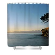 Sandstone Islet Near Silva Bay Shower Curtain