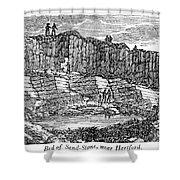 Sandstone Quarry, 1840 Shower Curtain