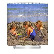 Sandy Fingers Sandy Toes Shower Curtain