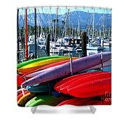 Santa Barbara Harbor Shower Curtain