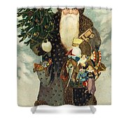 Santa Claus With Toys Shower Curtain