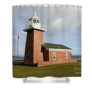 Santa Cruz Lighthouse Shower Curtain