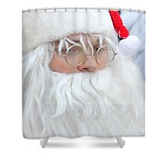Santa In Bethlehem March For Peace And Unity Shower Curtain