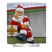 Santa Is Waiting For You Shower Curtain