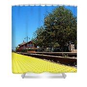 Santa Paula Train Station Shower Curtain
