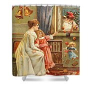 Santa's Gifts Shower Curtain by English School
