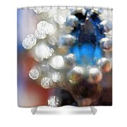 Saphire Sparkle Shower Curtain