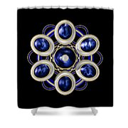 Sapphire And Gold Brooch Shower Curtain