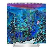 Sapphire Evening Shower Curtain