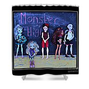 Sarah's Monster High Collection Shower Curtain