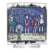 Sarah's Monster High Collection Sketch Shower Curtain
