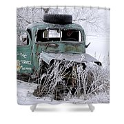 Saranac Cities Service Truck Shower Curtain